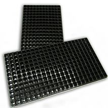 Black Plug Plant Seed Trays 264 Cells 12 x 22 with Drainage Holes 540mm x 277mm (Item ID:Trays)